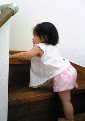 階段のぼり