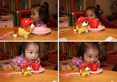 ワンワンとリンゴ