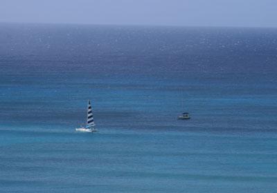 ホテルからの見える海