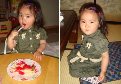 うなぎとケーキ